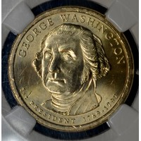 $1 One Dollar 2007 P Pres. BU G. Washington NGC 1st Day Issue