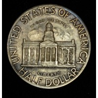 50c Half Dollar 1946 Iowa AU55 bright cleaned lt tone