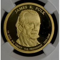 $1 One Dollar 2009 S Pres. PR69 UCAM J. Polk NGC super