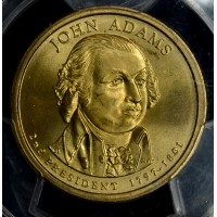$1 One Dollar 2007 P Pres. MS66 SF J. Adams Position A PCGS