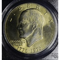 $1 One Dollar 1976 Ike MS64 Type 2 PCGS golden tone