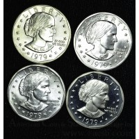 $1 One Dollar 1979 PDSS SBA MS64-PR69-DCAM 4 coin set
