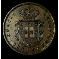 Portugal 10 Reis 1871 EF40 copper KM#514 cleaned