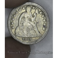 10c Dime 1856 G6 Small Date golden grey
