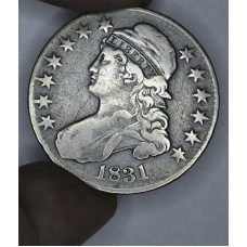 50c Half Dollar 1831 F15 light golden grey
