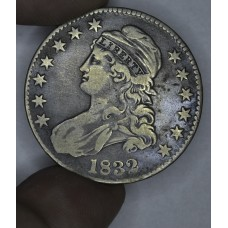 50c Half Dollar 1832 F15 grey toning