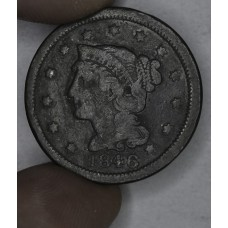 1c One Cent Penny 1846 G4 Medium Date rich brown toning