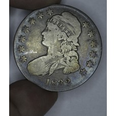 50c Half Dollar 1832 VG8 O#113 R2 even rich gldn gry tn