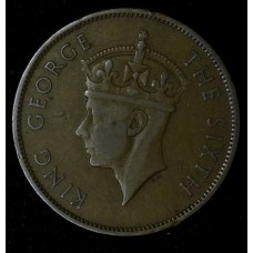 British Honduras 1 Cent 1947 VF30 bronze KM#21 choc brown hue