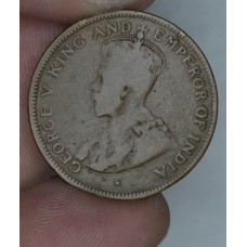 British Honduras 1 Cent 1918 VF20 bronze KM#19 40K minted