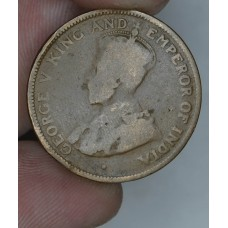 British Honduras 1 Cent 1919 F12 bronze KM#19 50K minted