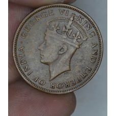 British Honduras 1 Cent 1943 EF40 bronze KM#21 100K minted