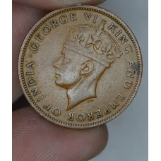 British Honduras 1 Cent 1945 EF45 bronze KM#21 130K minted