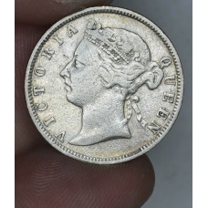 British Honduras 25 Cents 1897 VF25 silver KM#9 bright nice