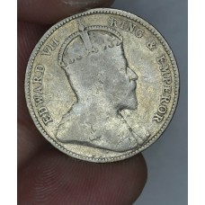British Honduras 25 Cents 1906 F12 silver KM#12 only 30k mntd