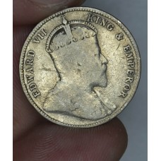 British Honduras 25 Cents 1907 F15 silver KM#12 only 60k mntd