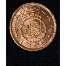 Angola 1 Escudo 1956 MS64 bronze KM#76 red gorgeous