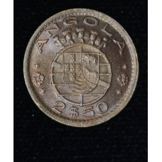 Angola 2 1/2 Escudos 1953 MS63 CN KM#77 beautiful tone