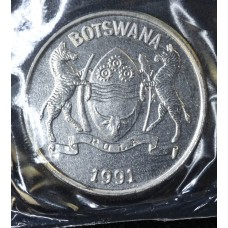 Botswana 25 Thebe 1991 MS63 nickel plated Steel KM#6a choice gem