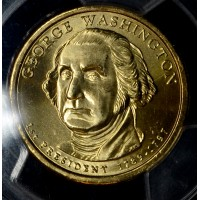 $1 One Dollar 2007 D Pres. MS65 G. Washington 1st Day of Issue PCGS