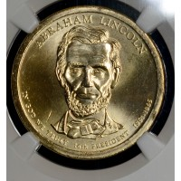 $1 One Dollar 2010 P Pres. MS66 A. Lincoln NGC bright