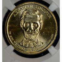 $1 One Dollar 2010 D Pres. MS64 A. Lincoln NGC bright