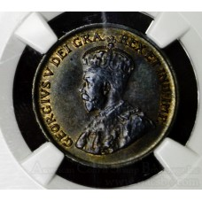 Canada 1c One Cent 1929 MS62 BN NGC bronze KM#28 violet blue