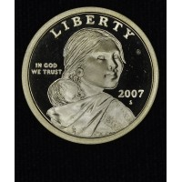 $1 One Dollar 2007 S SAC PR66 DCAM brilliant choice