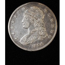 50c Half Dollar 1834 VF25 Small Date Stars Letters light grey