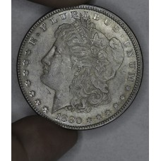$1 One Dollar 1880 P MS62 hazy grey toning