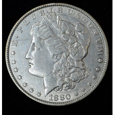 $1 One Dollar 1880 P EF40 lt orig toning