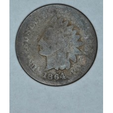1c One Cent Penny 1864 L AG3 Bronze ' & chr(39) & 'L' & chr(39) & ' not visible