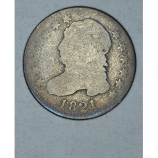 10c Dime 1821 AG3 Large Date even orig gldn gry
