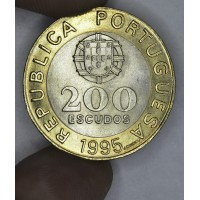 Portugal 200 Escudos 1995 BU bi-metallic KM#679 United Nations