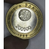 Portugal 200 Escudos 1999 INCM MS66 bi-metallic KM#720 dove