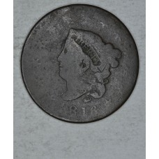 1c One Cent Penny 1816 AG3 N#7 R1 almost a full G4 grade