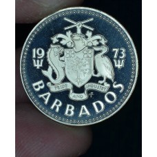 Barbados 25 Cents 1973 Proof CN KM#13 lighthouse