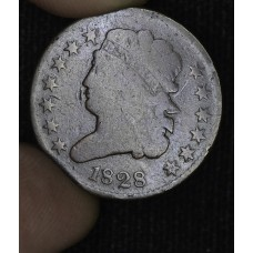 1/2c Half Cent Penny 1828 G4 13 Stars even brown choice example