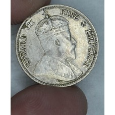 Hong Kong 10 Cents 1903 F15 silver KM#13 lt gray toning