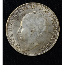 Curacao 1 Gulden 1944 D EF45 silver KM#45 lustrous