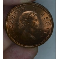 South Africa 1 Penny 1959 MS65 RB bronze KM#46 lustrous gem