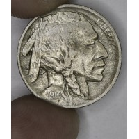 5c Nickel 1913 Buff EF40 Type 1 even golden grey
