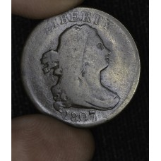 1/2c Half Cent Penny 1807 G6 most would call VG Choice