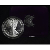 $1 One Dollar 1990 S Eagle PR69 DCAM case no box/coa