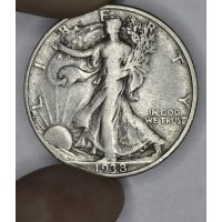 50c Half Dollar 1938 D F15 claims to full VF choice