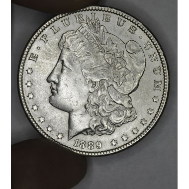 $1 One Dollar 1889 P AU58 ultra choice tons of luster