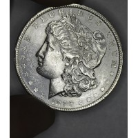 $1 One Dollar 1896 P AU55 soft strike lt gld hue