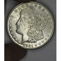 $1 One Dollar 1921 S Morgan AU50 lustrous ultra choice