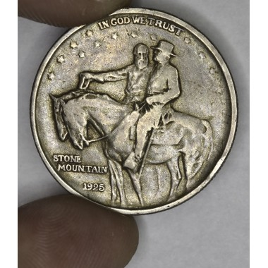 50c Half Dollar 1925 Stone Mountain EF40 golden gray tone