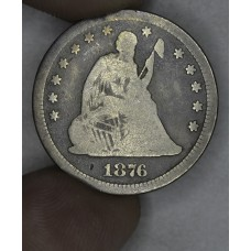 25 Cent Quarter 1876 G4 even gray
